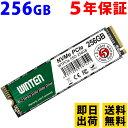 SSD M.2 256GB【5年保証 即日出荷 送料無料】WTPCIe-SSD-256GB NVMe PCIe M.2 2280 3D NANDフラッシュ搭載 日本語パッ…