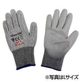 耐切創手袋シルバーシルク 1双 Mサイズ