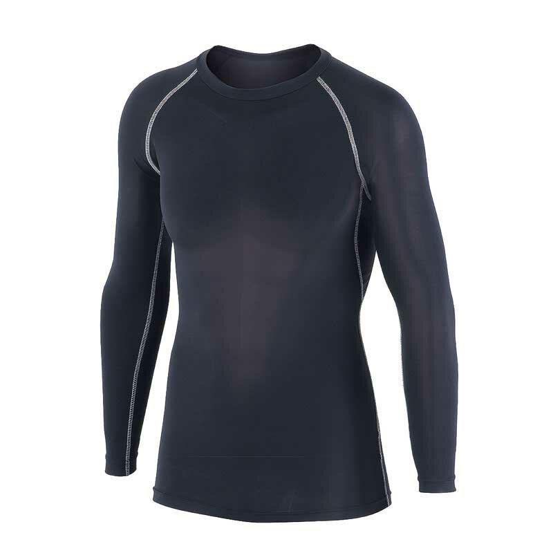 JW-623 冷感消臭パワーストレッチ長袖クルーネックシャツ ブラック Mサイズ