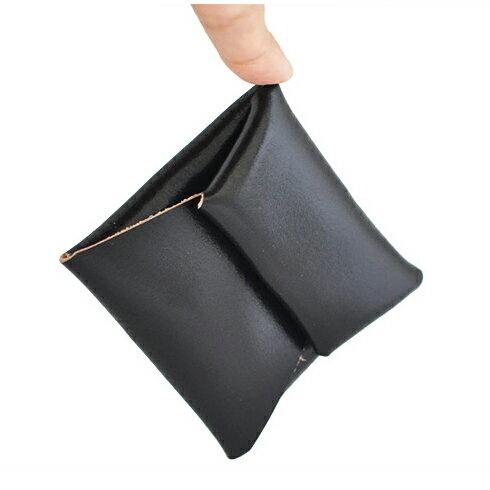 【名入れ不可】STORUS ストラス スマートコインケース 本革小銭入れ メンズ ブラック