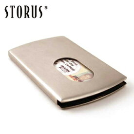 【名入れ不可】STORUS ストラス スマートカードケース ステンレス製カード入れ 名刺入れ メンズ シルバー マネークリップ