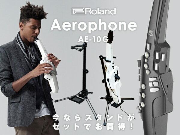 【数量限定スタンド&交換用マウスピース付き!】【新製品】Roland ローランド Aerophone エアロフォン AE-10G グラファイト・ブラック 【送料無料】【p10】