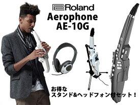 【数量限定スタンド&ヘッドフォン付き!】【新製品】Roland ローランド Aerophone エアロフォン AE-10G グラファイト・ブラック 【送料無料】【P10】