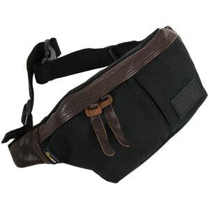 ButlerVernerSails コーデュラナイロン×牛革ヒップバッグ