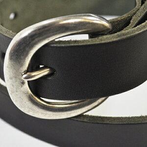 ButlerVernerSails 牛革ピューターバックルベルト(30mm)