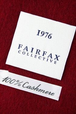 (フェアファクス)FAIRFAXソリッドのカシミアマフラークリムソンレッド無地カシミヤ100%メンズマフラー赤ワインボルドー(送料無料)