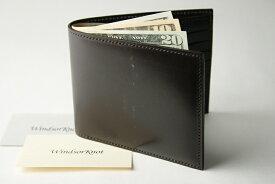 (ファイブウッズ) FIVE WOODS BASICS BRIDLE ベーシックブライドル 二つ折ウォレット 札入れ 「BILLFOLD」 ダークブラウン 日本製 ブライドルレザー 本革 メンズ 二つ折財布 43015( 送料無料 )
