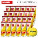 ウイルソン [wilson] テニスボール チャンピオンシップエクストラデューティー 1箱(1缶3球入り/24缶/72球/※6ダース…