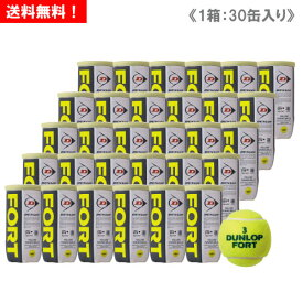 ダンロップ [DUNLOP] FORT フォート 1箱(1缶2球入/30缶/60球) [ITF/JTA公認球]