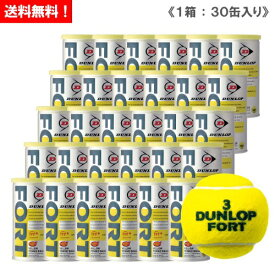 ダンロップ [DUNLOP] フォート(FORT) 1箱(1缶2球入/30缶/60球※5ダース)テニスボール