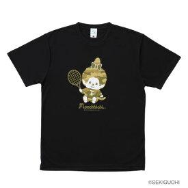 モンチッチスポーツ テニスTシャツ(M0011-BLACK)[MONCHIICHI SPORTS MS ユニセックス]