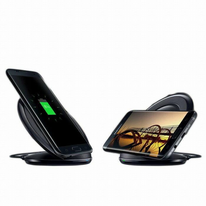 Qi 充電器 Galaxy S7 edge Qi充電パッド 急速充電 ワイヤレス充電器 Fast Wireless Charger Stand ワイヤレス充電 ワイヤレス充電器 ワイヤレス ワイヤレス充電スタンド Samsung サムスン s7edge 無線充電器 ワイヤレスチャージャー メール便 送料無料