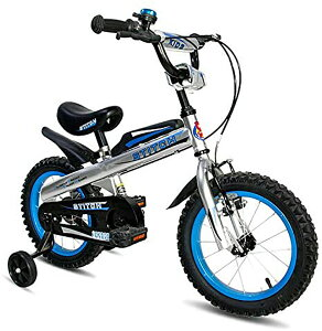 ナイト 子供用自転車 泥除け付き 補助輪付き 滑り止めハンドル付き 格好いい 簡単に安装 安全 丈夫 二つブレーキ 二つサドル