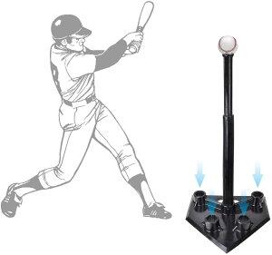 Cyfie 野球練習用品 硬式 軟式球 ソフトボール対応 バッティングティー