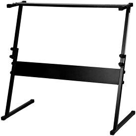 電子ピアノスタンド キーボード用スタンド キーボード台 シンセサイザー Z型 高さ調節可 本体固定ネジ付 ブラック