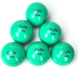 野球 トレーニング Cyfie 野球&ソフト グリーン 練習用 ボール 6球セット