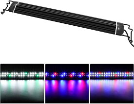 水槽照明 LEDライト 水槽ライト アクアリウムライト メダカ 熱帯魚ライト タイマー(6/10/12H/不定時) 3つの照明モード 10段階明るさ調整 スライド式 LED 50000時 長寿命 観賞魚飼育 水草育成 淡水&海水両用 (IPL-50)