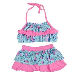 Herasa 水着 女の子 かわいい 子供水着 ビキニ 2点セット セパレート(レッド)