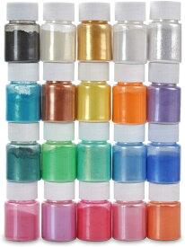 【6/25入荷予定】マイカパウダー 着色剤 Biutee カラー顔料パウダー 石鹸作りツール ネイルパウダー レジン染料 キャンドル作り アイシャドウ 赤面 レジンジュエリー クラフトプロジェクト (24色)