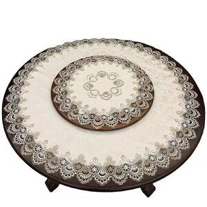 テーブルクロス レース 円形 直径約100cm 送料無料 おしゃれ かわいい ランチマット テーブルマット ラウンドクロス 食卓 マット 花 敷物 雑貨 食卓 水洗い可 北欧 オフホワイト