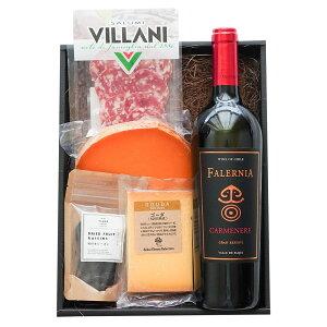 ギフト チーズとワインセット 赤ワイン ワインギフト カルムネール サラミ ゴーダ ミモレット ドライフルーツ つまみ おつまみ 詰め合わせ プレゼント 内祝い お土産 ラッピング おしゃれ