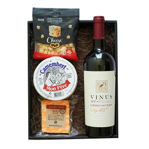 赤ワイン チーズ おつまみ ギフト セット 父の日 ヴィニウスカベルネソーヴィニヨン チーズ ポップ モンペールカマンベール 詰め合わせ フルボディ 濃い お取り寄せグルメ お酒 ちーず 贈り