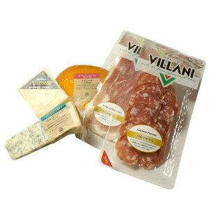 ワインに合う チーズ 生ハム アテ おつまみセット チーズ3種 サラミ パルミジャーノ ゴルゴンゾーラ ギフト プレゼント