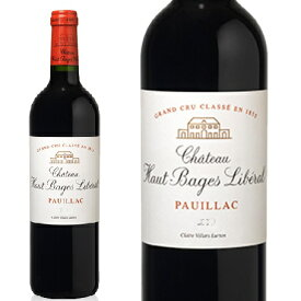シャトー・オーバージュ・リベラル2014 フランスワイン 産地 ボルドー ポーイヤック 赤ワイン 直輸入 家飲み お誕生日 ギフト お祝い 750mlChateau HAUT-BAGES LIBERAL 直輸入ボルドー