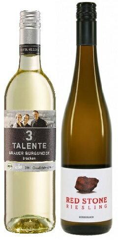 腸内フローラの恋人・ドイツ白辛口ワイン2本セット3タレンテ・ビオ&ヴィーガン・グラウブルグンダー2016・グンダーロッホ・レッドストーン・リースリング2016ドイツワイン 産地 ラインヘッセン白ワインお誕生日ギフトお祝いに