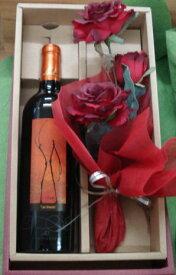 ♪ワインの贈り物 かわいいお花を添えて♪レ・ザマン・デュシャトーモンペラ<赤>送料無料 【あす楽】ワイン 赤ワイン ギフト お祝い 誕生日