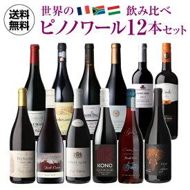 1本当たり1,100円(税込) 送料無料 世界のピノ・ノワール飲み比べ12本セット 第5弾 ピノノワール ワインセット 赤ワイン 長S