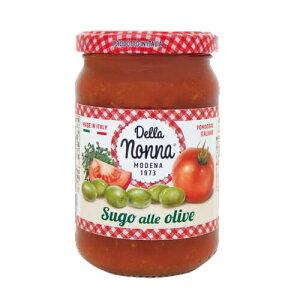 デラノンナ パスタソース トマト&オリーブ(2〜3人前) 280g 瓶 単品販売 デラ ノンナ ソース イタリア nakato 長S