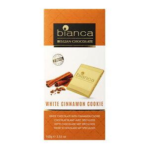 タブレットチョコレート ビアンカ ホワイトシナモンクッキー 100g ベルギー クリスマス バレンタイン ホワイトデー 義理チョコ 長S