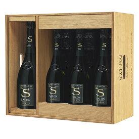 送料無料サロン 2008 マグナム (1500ml) 1本入アソートセット 木箱入 限定品 シャンパン シャンパーニュ