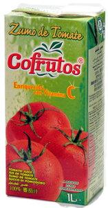 トマトジュース スペインの美味しいジュースで健康に♪コフルートス 野菜ジュース 有塩 1L