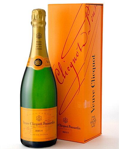 【オリジナルギフトボックス入り】【シャンパン】【ギフト】ヴーヴ・クリコ・ポンサルダン・ブリュットNVイエロー・ラベル750ml並行品(泡・白)(ギフトボックス入り)[Y][J][H]