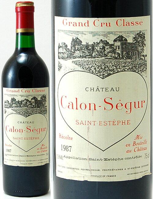 シャトー カロン セギュール[1987] ※ラベル瓶&キャップに汚れ 破れ 傷有り※(赤ワイン)[J][tp][S]