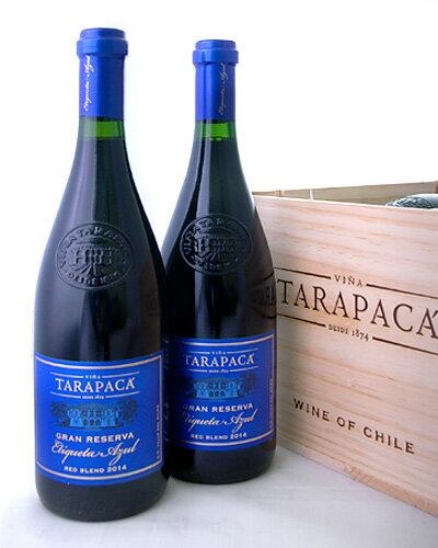 【オリジナル木箱入り】タラパカ・グラン・リゼルヴァ・ブルー・ラベル[2014]6本セット※同梱不可(赤ワイン)[tp]