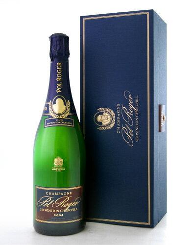 【オリジナル箱入り】キュベ・サー・ウィンストン・チャーチル[2004]ポル・ロジェ(泡・白)(ワイン(=750ml)10本と同梱可)