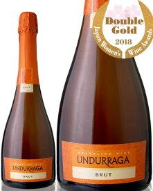 サクラワインアワード2018年ダブルゴールド受賞 ウンドラーガ スパークリング ブリュットNV ( 泡 白 )