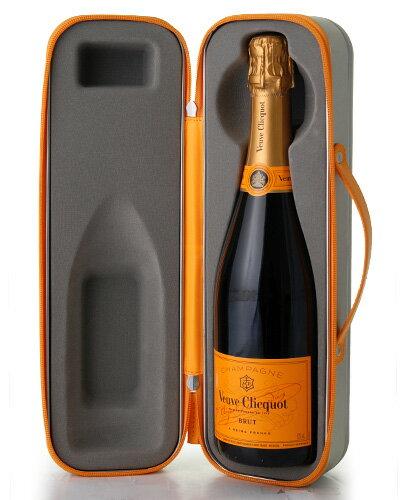 特製!スーツケース型BOX入り 並行ヴーヴ・クリコ・イエロー・ラベルNV(ワイン(=750ml)4本と同梱可)(泡・白) [S]