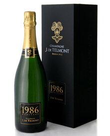 箱入り ブリュット ミレジメ エリタージュ [1986] J.ド テルモン(ワイン(=750ml)8本と同梱可) ( 泡 白 ) シャンパン シャンパーニュ [tp] [S]