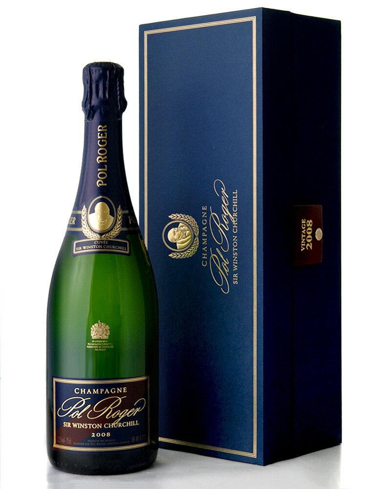 箱入り キュベ サー ウィンストン チャーチル[2008]ポル ロジェ(泡白)(ワイン(=750ml)4本と同梱可)