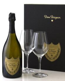 正規 箱入り ドン ペリニヨン [2009] グラスセット ( 泡 白 ) シャンパン シャンパーニュ (ワイン(=750ml)8本と同梱可) [tp]