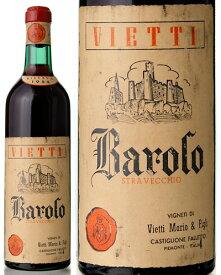 バローロ ストラヴェッキオ リゼルヴァ [1954] ヴィエッティ ( 赤ワイン ) ※ラベル瓶&キャップに汚れ・破れ・傷有り※ [S]
