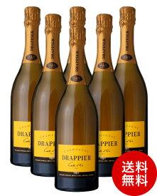 送料無料 ドラピエ カルト ドール ブリュットNV 6本 セット ( 泡 白 ) シャンパン シャンパーニュ (ワイン(=750ml) 6本 同梱可) (代引き手数料 クール便は別途費用が掛かります)