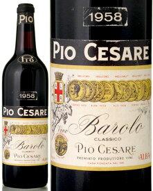 バローロ [1958] ピオチェザーレ( 赤ワイン )※ラベル瓶&キャップに汚れ・破れ・傷有り※ [S]