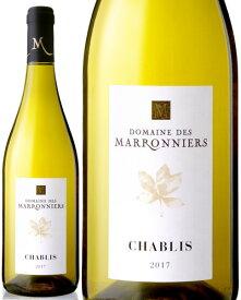 フランス 白ワイン シャブリ[2017]ドメーヌ デ マロニエール(白ワイン) [j]