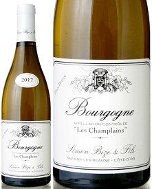 ブルゴーニュ ブラン レ シャンプラン ピノ ブーロ [ 2017 ]シモン ビーズ ( 白ワイン )