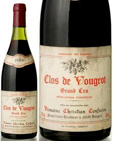 クロ ド ヴージョ グラン クリュ [ 1989 ]ドメーヌクリスチャンコンフュロン※瓶汚れあり ( 赤ワイン ) [S]